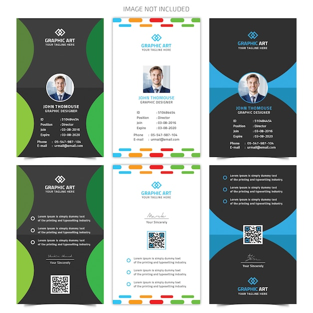 Id Card Template PSD File