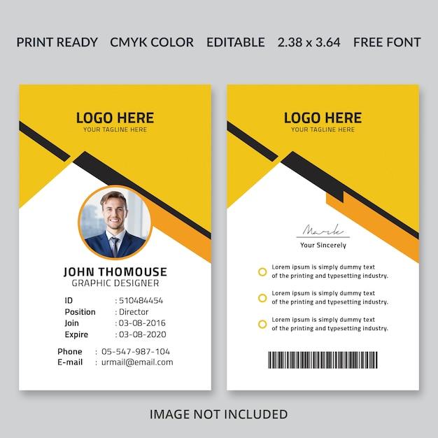 Корпоративный дизайн id card Premium Psd