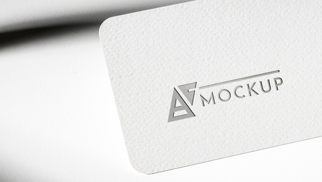 Identity business card mock-up on white background Free Psd