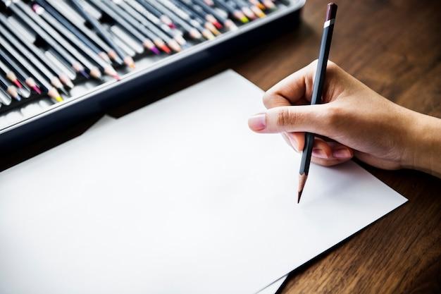 Концепция рабочего места иллюстратора с copyspace Бесплатные Psd