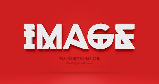 Image 3d text style effect Premium Psd