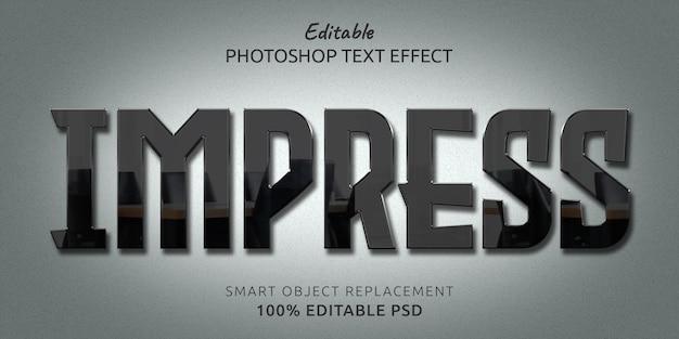 Impress редактируемый psd text style effect Premium Psd