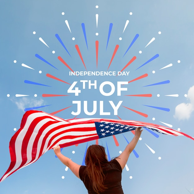 Independence day mockup with copyspace Free Psd