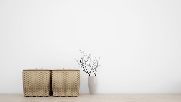 Внутренние декоративные предметы для минималистского стиля Бесплатные Psd