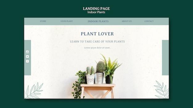 屋内植物のランディングページテンプレート Premium Psd