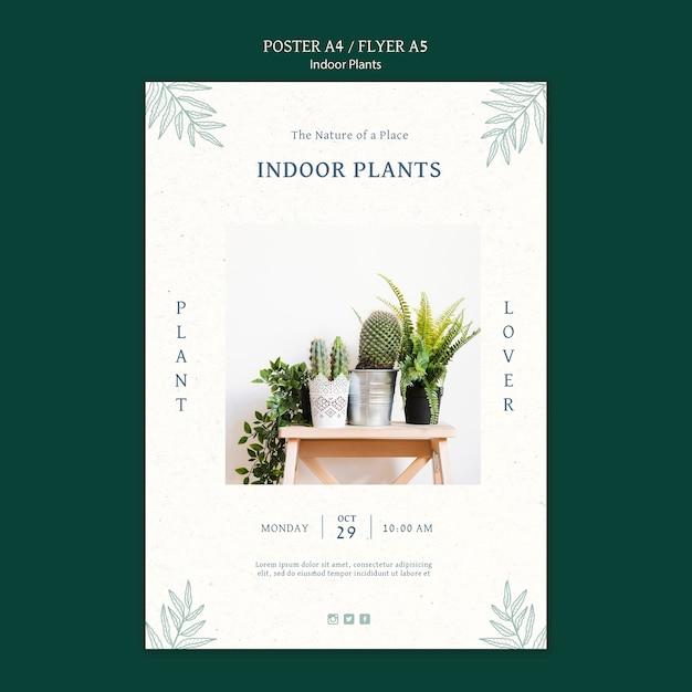 写真付き観葉植物ポスターテンプレート 無料 Psd