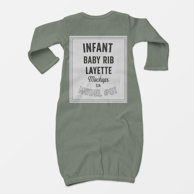 Infant baby rib layette mockup 07 Free Psd