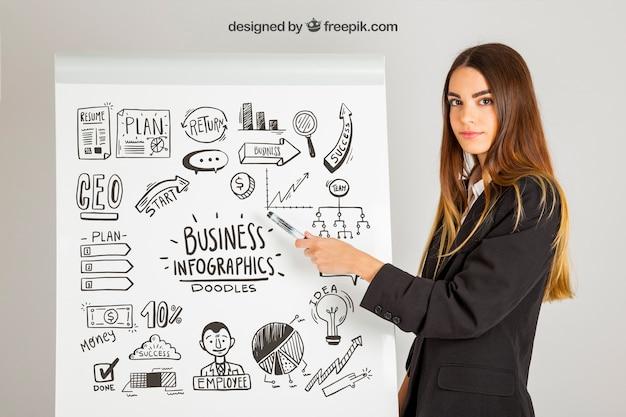 インフォグラフィックビジネスコンセプト 無料 Psd