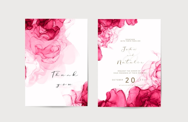 Ink alcohol wedding save the date Free Psd