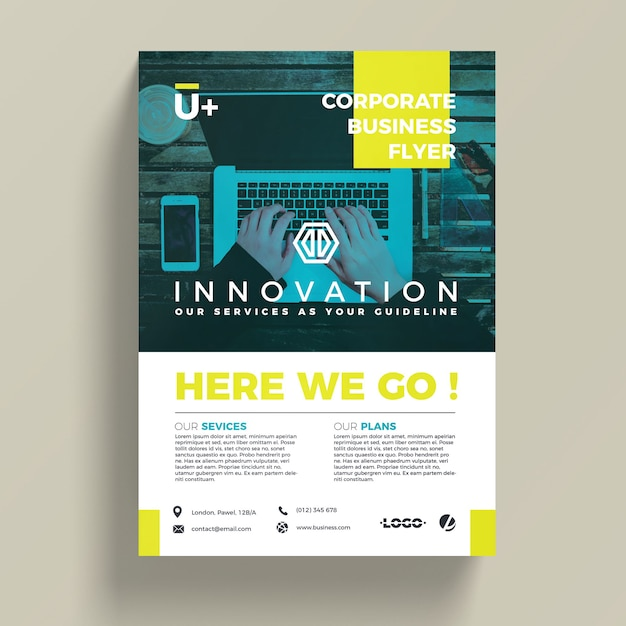 Innovative corporate business flyer template psd file free download innovative corporate business flyer template free psd flashek Images