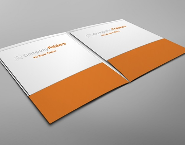 inside view two pocket folder mockup template free psd psd file, Presentation templates
