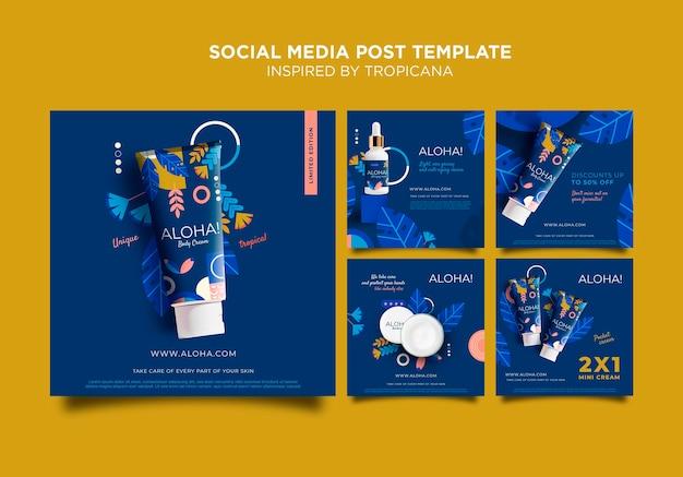 Tropicana 소셜 미디어 게시물에서 영감을 얻음 무료 PSD 파일