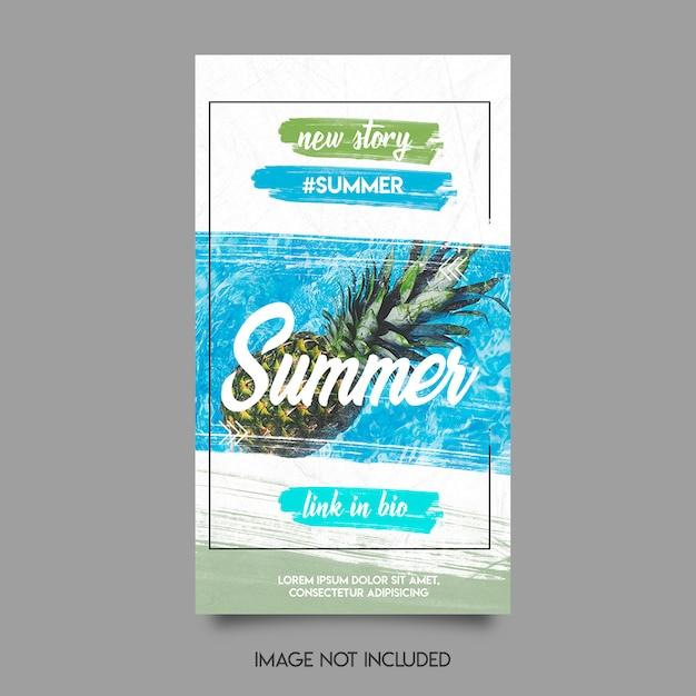 夏instaストーリーテンプレート Premium Psd