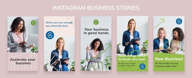 Шаблон бизнес-историй из instagram Бесплатные Psd