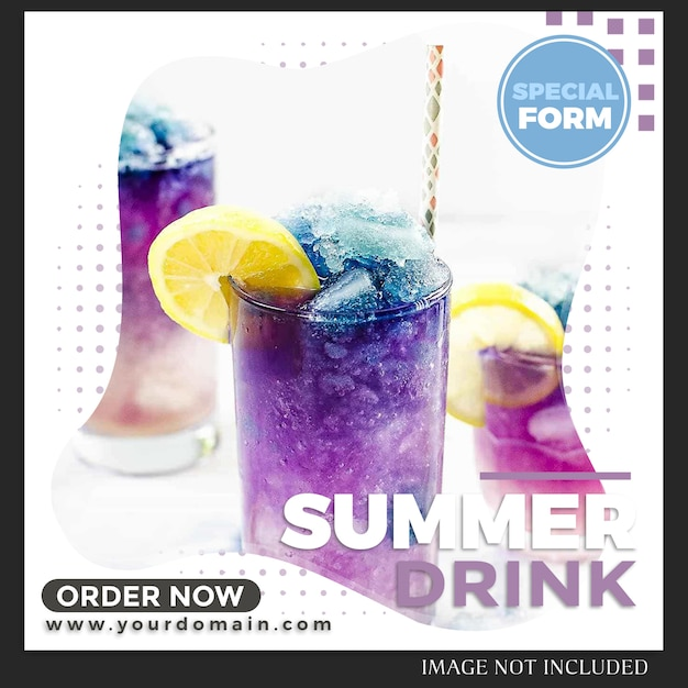 Instagram  food & drink post template Premium Psd