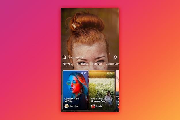 Instagram igtv mockup Premium Psd