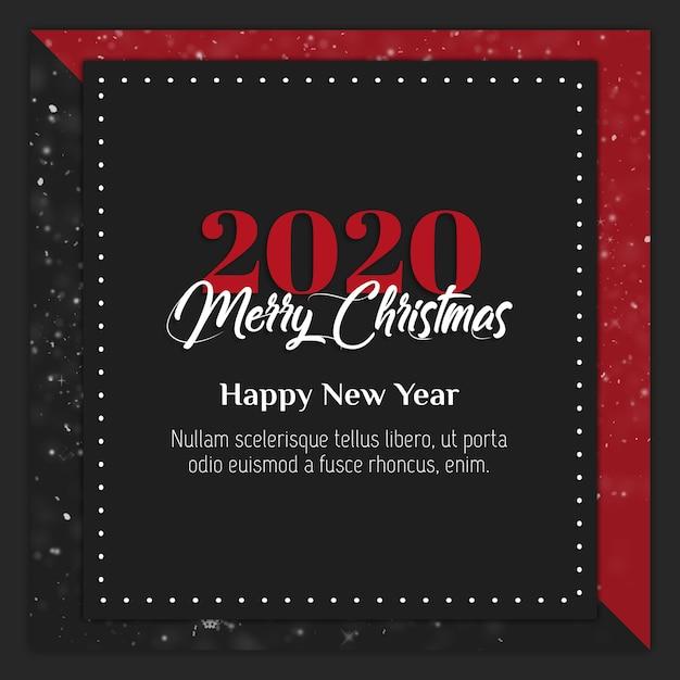 Рождественская instagram instagram открытка или баннер шаблон Premium Psd