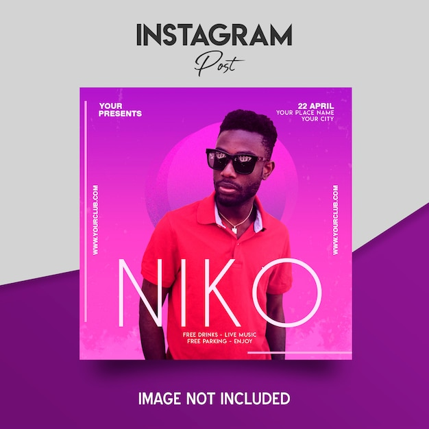 Instagram Music Festival Post Template PSD File