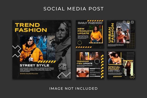 Instagram 포스트 컬렉션 패션 스타일 템플릿 프리미엄 PSD 파일