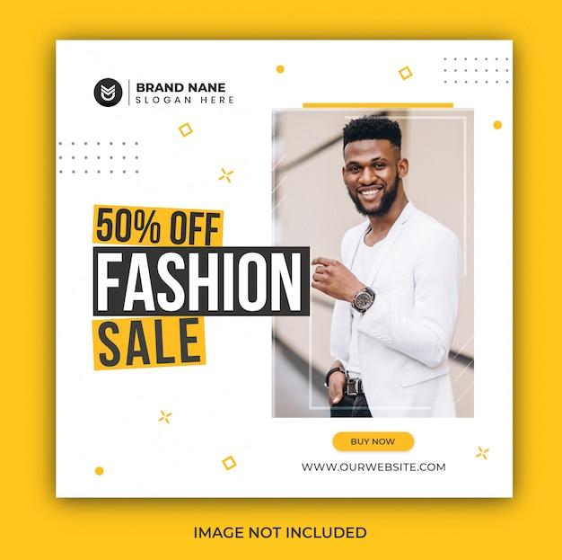 Instagram post fashion sale social media banner template Premium Psd