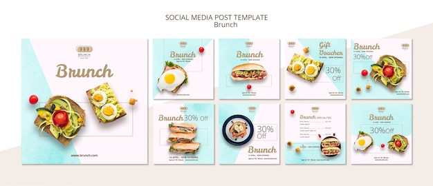 Instagram post template collection Free Psd