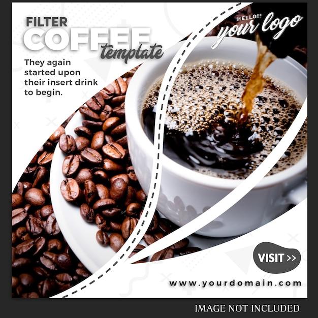 Шаблон поста в instagram для рецепта напитка или еды Premium Psd