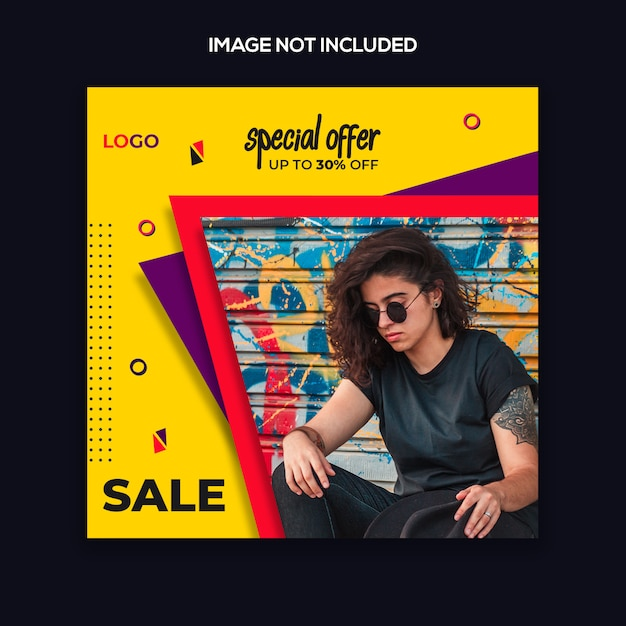 Instagram post template or square banner fashion modern design Premium Psd