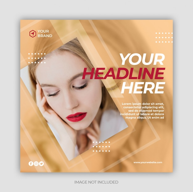 Instagram post template or square flyer Premium Psd