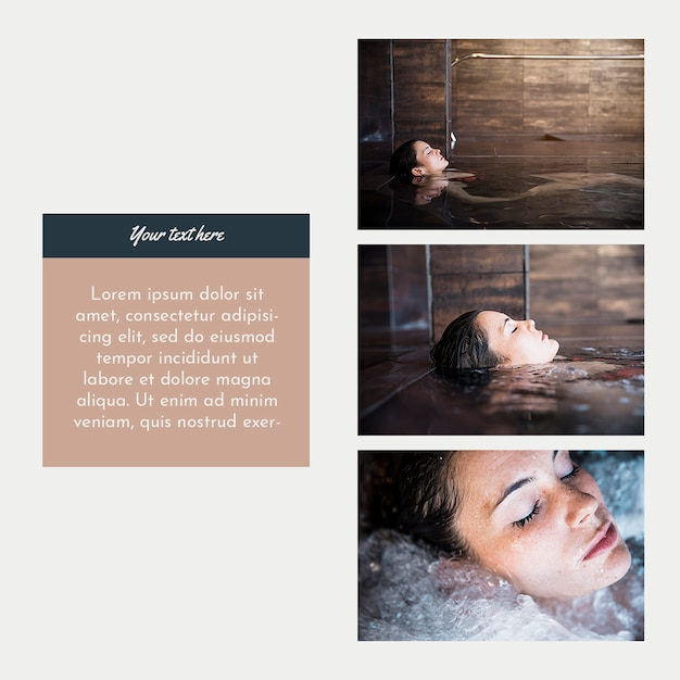 Instagram post template with spa concept Free Psd