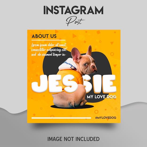 Instagram post template Premium Psd