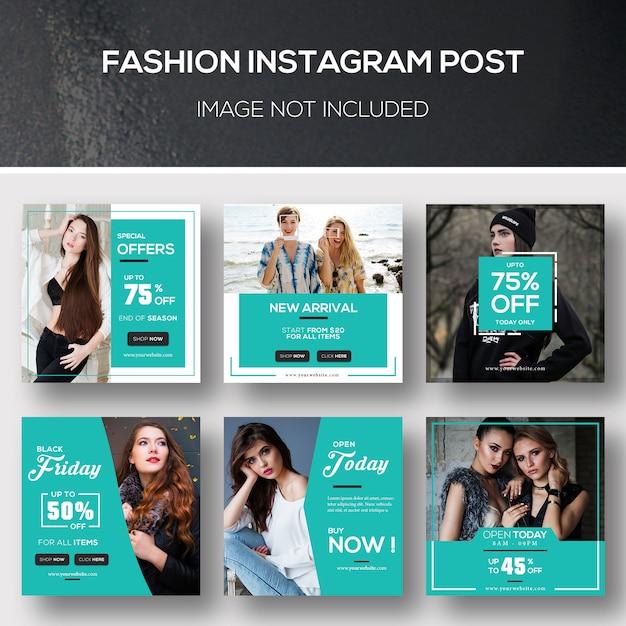 ファッションinstagram post Premium Psd