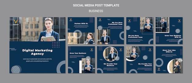 デジタルマーケティング代理店のinstagram投稿コレクション Premium Psd