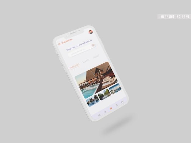 스마트 폰 모형의 instagram 소셜 미디어 게시물 무료 PSD 파일