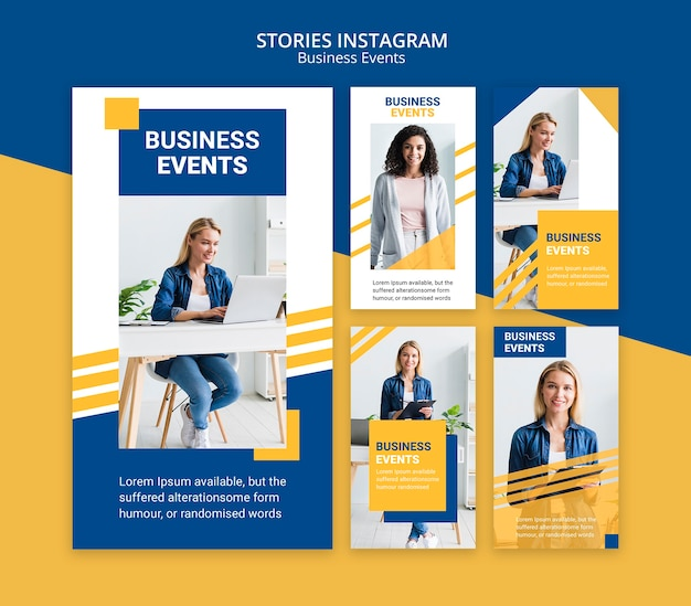 Instagram stories for business template Free Psd
