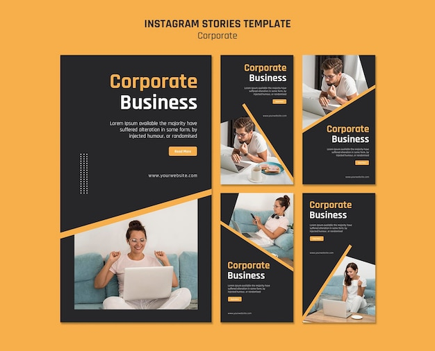 Instagram stories collection for corporate business Premium Psd