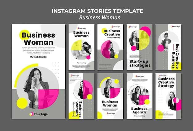 Сборник рассказов instagram для бизнес-леди Premium Psd