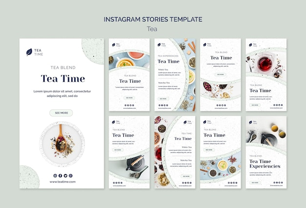 ティータイムのinstagramストーリーコレクション 無料 Psd