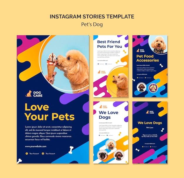 Raccolta di storie di instagram per attività di negozio di animali Psd Gratuite