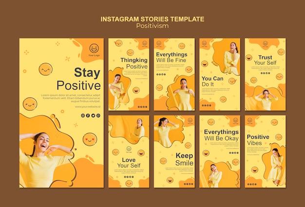 ポジティブな状態を保つinstagramストーリーコレクション 無料 Psd
