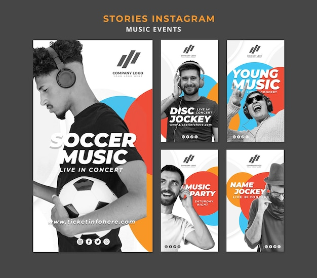 Instagram stories collection Free Psd