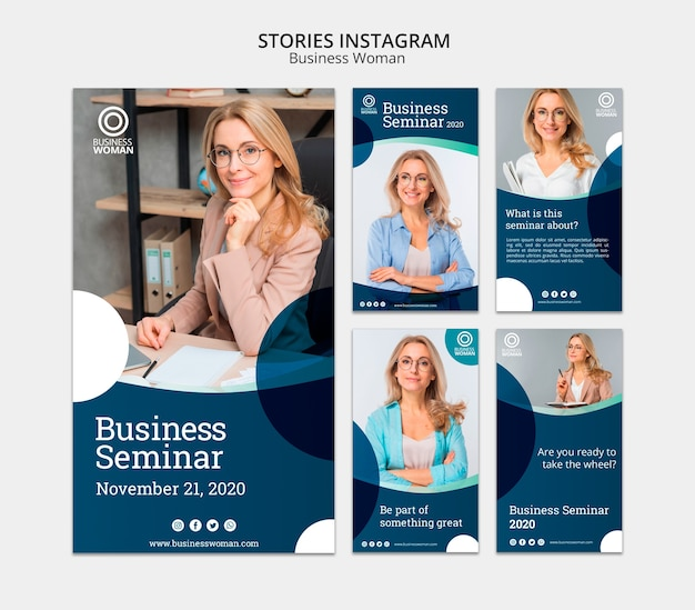 Instagram stories concept for companies Free Psd
