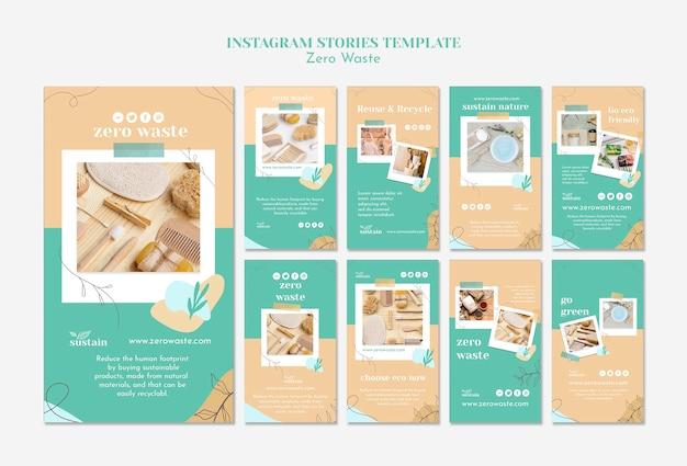 Instagram stories pack for zero waste Premium Psd
