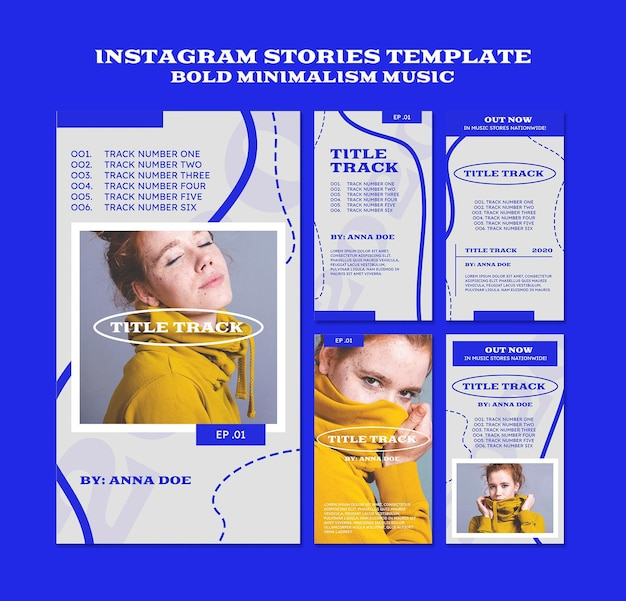 ミュージシャンのためのinstagramストーリーテンプレート 無料 Psd