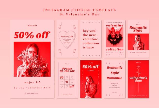 Modello di storie di instagram per san valentino Psd Gratuite