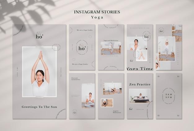 Modello di storie di instagram con yoga Psd Gratuite