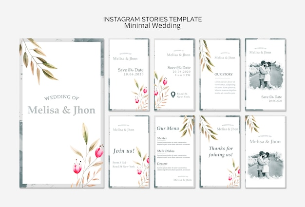 Instagram stories templates for wedding photographers: design it.