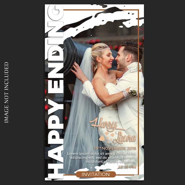 Шаблон свадебных историй в instagram Premium Psd