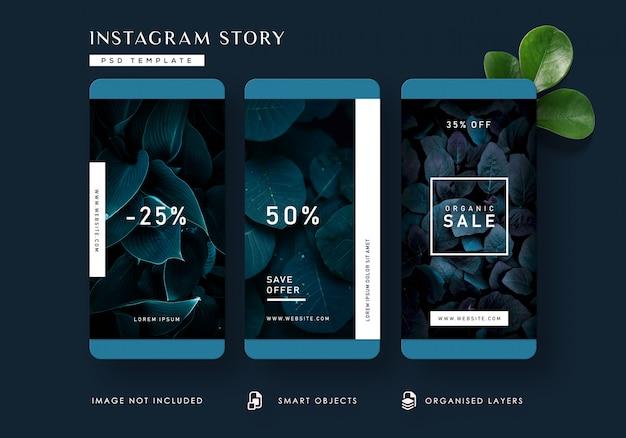 ダークネイチャーinstagramストーリーテンプレート Premium Psd