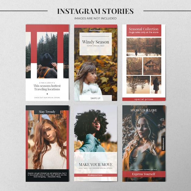 ファッションinstagramストーリーテンプレート Premium Psd