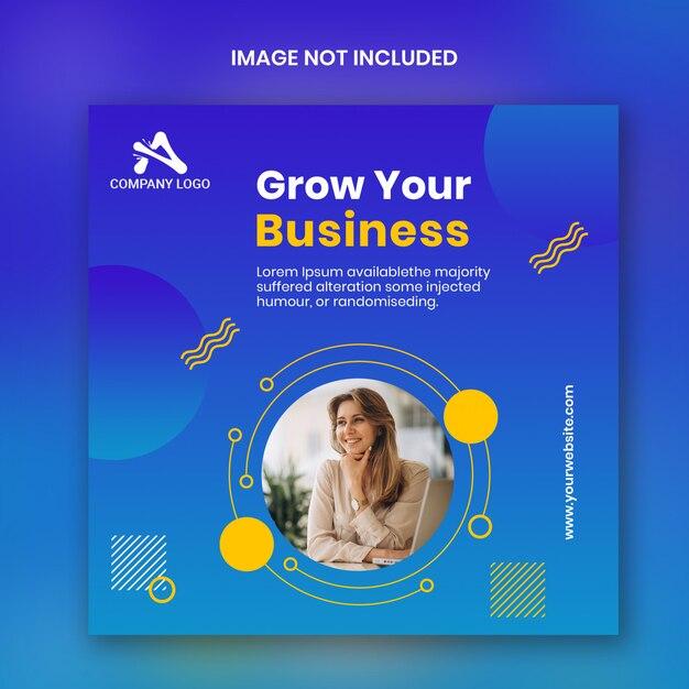 個人的なビジネスinstagram正方形バナーテンプレート Premium Psd